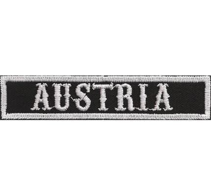 SOA sw, AUSTRIA Namensschild Rangabzeichen Motorad Kutte  Patch Aufnäher