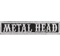 SOA sw, METAL HEAD Namensschild Rangabzeichen Motorad Kutte  Patch Aufnäher
