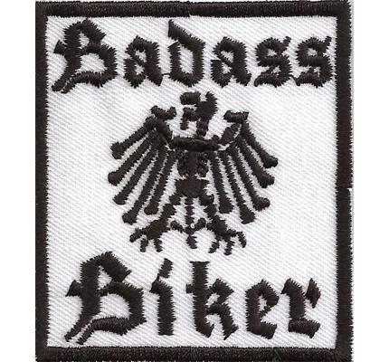 BADASS Biker Deutscher Adler Eagle Bones Lederkutte Kamikaze Spruch Aufnäher