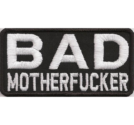 Bad Motherfucker Pulp Fiction Badass BFFB Biker Spruch Kutte Aufnäher patch