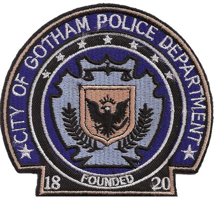 Batman Police City of Gotham Polizei Department founded 1820 Aufnäher Patch
