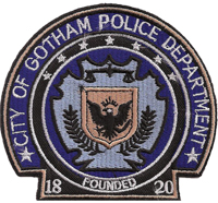 Batman Police City of Gotham Polizei Department founded 1820 Aufnäher Patch