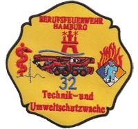 Berufsfeuerwehr Hamburg 32 Technik Umweltschutzwache Abzeichen Aufnäher
