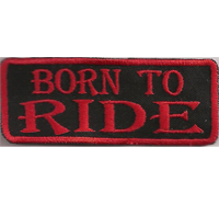 Born To Ride Biker Rank Kutten Rocker Spruch Bikerjacke Aufnäher Patch Aufbügler