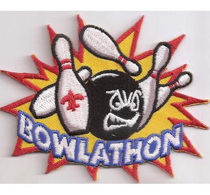 Bowlathon Profi bowling kegeln Kugel Schuhe Aufnäher Patch Aufbügler