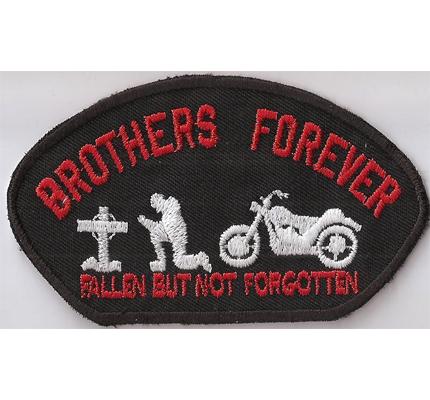 Brothers Forever RIP Fallen But NOT Forgotten Biker Kutten Patch Aufnäher