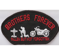Brothers Forever RIP Fallen But NOT Forgotten Biker Kutten Patch Aufnäher