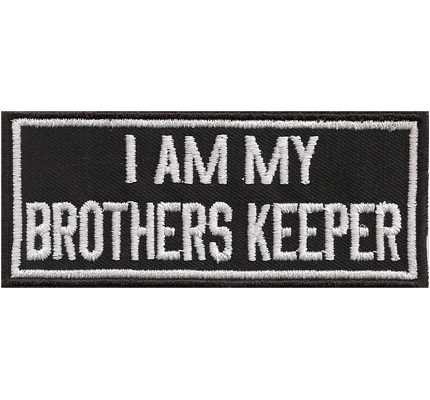 I am my Brothers Keeper Biker Brotherhood Rocker Biker Abzeichen Aufnäher