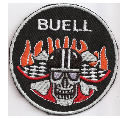 Buell Skull Hells Flame Head Angels Custom Bike Motorcycle Patch Aufnäher