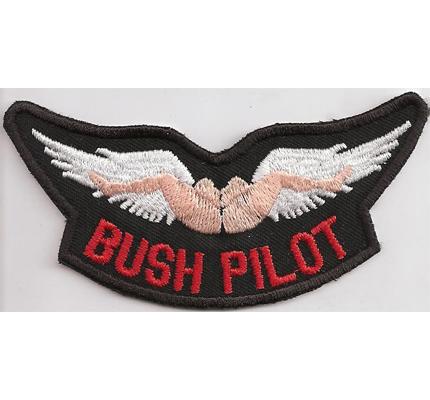 Bush Pilot Pussy diving Wingman No Angels Wing Rocker Biker Patch Aufnäher