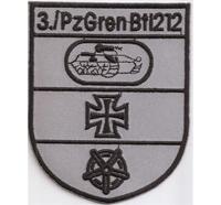 Bw Verbandsabzeichen 3 P zGren Btl 212 Augustdorf Abzeichen Aufnäher Patch
