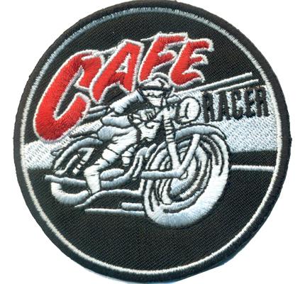 CAFE Racer Vintage Retro Biker Motorcycle Motorradfahrer Patch Aufnäher Abzeichen