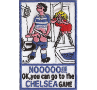 CHELSEA Soccer Fanclub Best Club, Game or Dig Off Iron on Patch Badge Aufnäher
