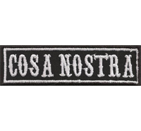 COSA NOSTRA Mafia Biker Rocker Heavy Metal Aufnäher Patch Abzeichen