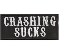 CRASHING SUCKS Biker Motorradjacke Motorcycle Patch Aufnäher Abzeichen