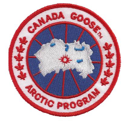 Canada Goose Arctic program Winterjacke Haube Schal Aufnäher Patch