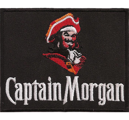 Captain Morgan Rum Spiced gold Kostüm Uniform Cocktail Barkeeper Aufnäher Patch
