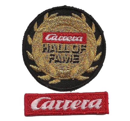 Carrera SET Hall of Fame Rennbahn Modell Auto Racing Aufnäher Patch