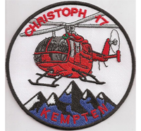 Christoph 17 Kempten Helikopter Hubschrauber Rettungsdienst Aufnäher Abzeichen