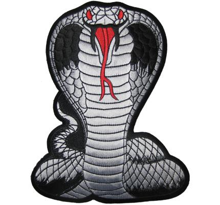 Cobra XXL Snake Dodge Viper Biker Rocker Kutte Schlange Backpatch Aufnäher Aufbü