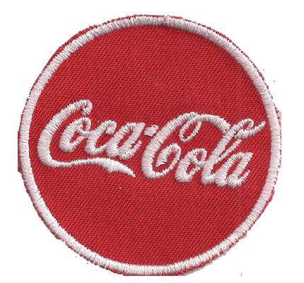 CocaCola Rund Schild retro 60s Coca Cola Cold Drink Aufnäher Abzeichen