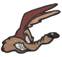 COYOTE Roadrunner Comic HEAD kopf Biker Rocker US Muscle Car Aufnäher Patch