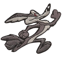 COYOTE Roadrunner Runner Comic Biker Rocker US Muscle Car Aufnäher Patch