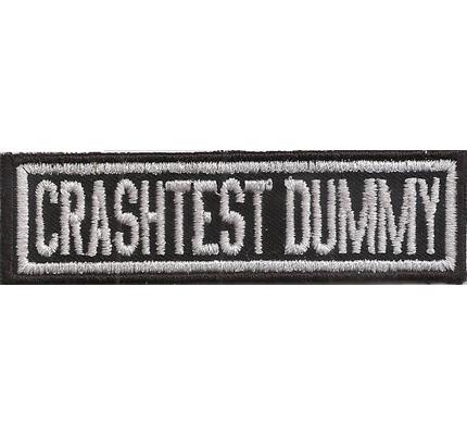 CRASHTEST DUMMY Biker Namensschild Rank Rangabzeichen Aufnäher Patch