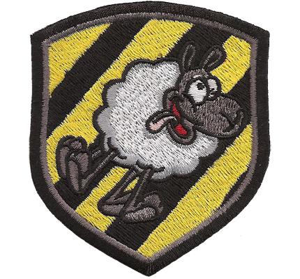 Crazy Sheep Schäfchengruppe, verrücktes Schaf Schäfer Aufbügler Aufnäher Patch