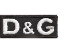 DG No dolce D&G No Gabana Label Aufnäher Aufbügler Ettikett Patch Monogramm