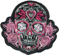 Deathhead Herz Love Floral Tribal Totenkopf Skull head Biker Aufnäher Abzeichen Patch
