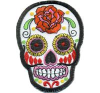 Deathhead Blumen Love Floral Tribal Totenkopf Skull head Biker Rockabilly Aufnäher Patch