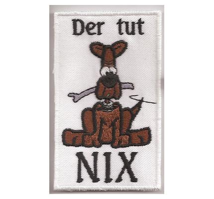 DER TUT NIX Hundeführer Braver Hund Bulldog Dackel Geschirr Funpatch