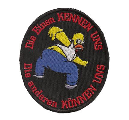 Die Einen kennen uns, andere können uns, 2 Homer simpson Biker Aufnäher