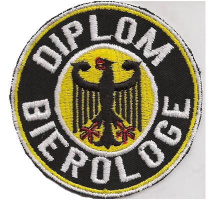 Diplom Bierologe Deutscher Adler Ultras Biker Sprüche Kutte Aufnäher Patch