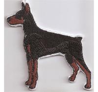 Dobermann Hund Dog Dober mann Hundeführer Leine Patch Aufnäher Abzeichen