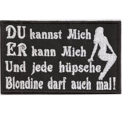 Du Kannst Mich Rocker Fanclub Biker MC Heavy Death Metal Kutte Patch