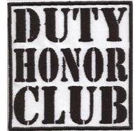 DUTY HONOR CLUB Biker Rocker MC Kutte Patch Aufnäher Abzeichen Badge
