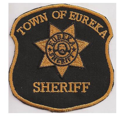 EUREKA Sheriff Carter Season DVD Town of Eureka Badge Patch Abzeichen