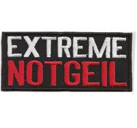 EXTREM NOTGEIL, Heavy Metal, Rocker, Biker, Kutte, Aufnäher, Patch, Abzeichen