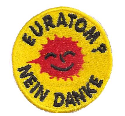 EURATOM NEIN DANKE Euratom Atomaustieg Anti Atom SOFORT Aufbügler