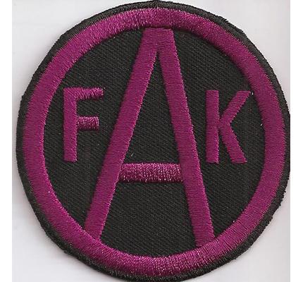 FAK Austria Wien Fussball schwarz violett Trikot Abzeichen Aufnäher Patch
