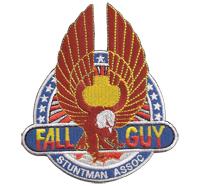 FALLGUY Stuntman ASSOC Hollywood Stuntcrew Patch Aufnäher Abzeichen