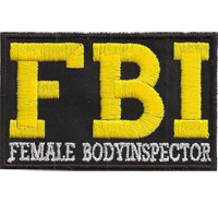 FBI Female Body Inspector Biker Rocker Weste lustiger Spruch Aufnäher Patch