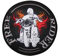 FREERIDER Free Rider Biker Motorradfahrer Harley Davidson Patch Aufnäher