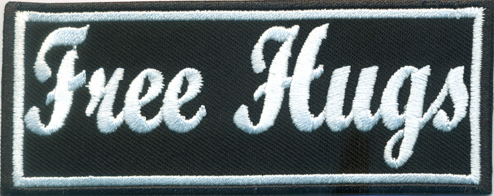 FREE HUGS Chopper Punk Anarchy Heavy Metal Biker Rocker Aufnäher Patch Abzeichen