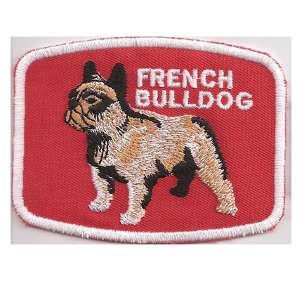 French Bulldog English französische Bull dog Bulldogge eschirr Aufnäher