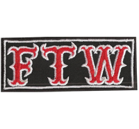 FTW Fuck The World Biker Motorcycle Kutte MC Patch Aufnäher Aufbügler