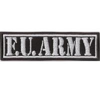 F.U. Army, Motorcycle Club Rangabzeichen Biker Aufnäher Patch Abzeichen