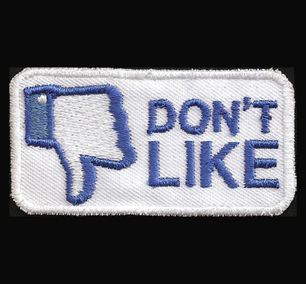 Facebook Dont like Button Lustiger Funny Patch Aufnäher Abzeichen